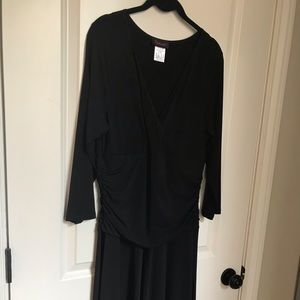 Black Dressy V Neck Dress
